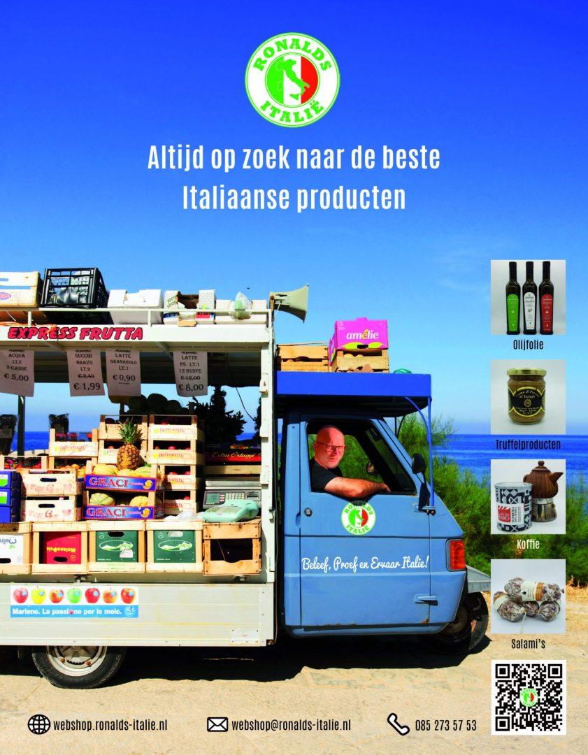 Ronalds Italie Webshop altijd op zoek naar Italiaanse delicatessen 1